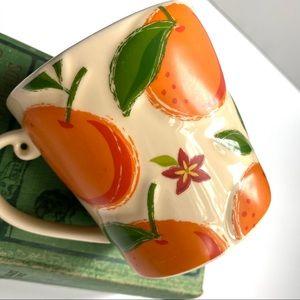 Starbucks Raised Oranges Flowers 16 Oz Mug Coffee